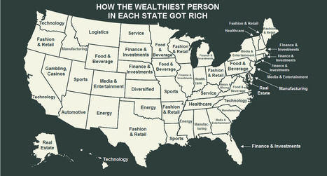 How The Wealthiest Person In Every State Got Rich | Family Office - Empowering Family Dynasties | Scoop.it