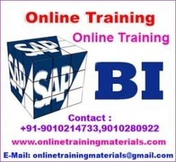 SAP BI online training institute in Ameerpet, SAP BI Online Training Institute from Hyderabad India.   Online Training Materials   Online Training   Scoop.it