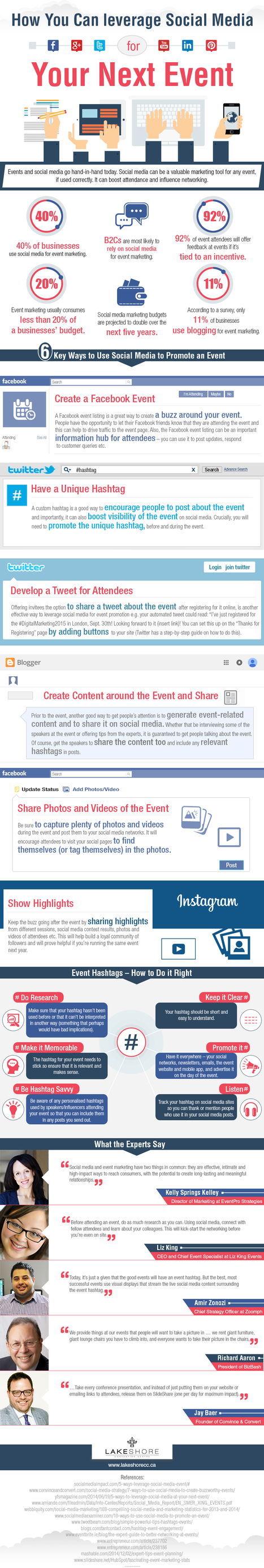 How to Use Social Media for Event Marketing #Infographic | The Twinkie Awards | Scoop.it