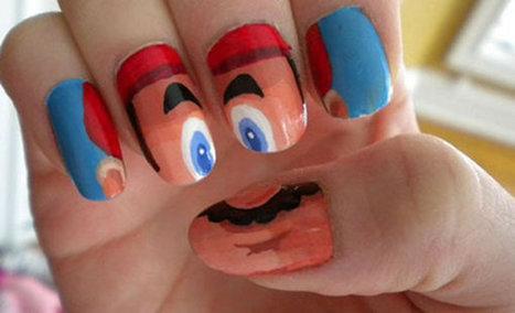 Mario Nail Art | All Geeks | Scoop.it