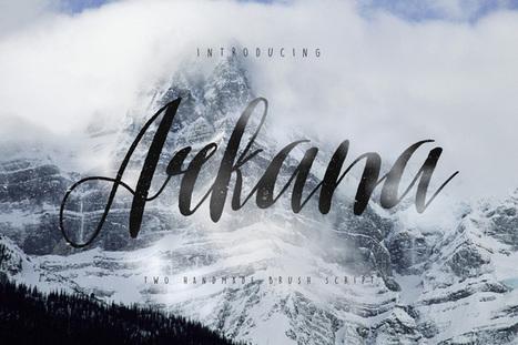 #Typographie : Elle est gratuite et elle s'appelle « Arkana Script » | Graphic design | Scoop.it
