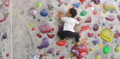 Un enfant de 2 ans escalade comme les grands   Baby Grimp   Scoop.it