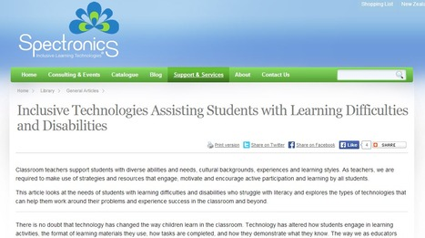 Inclusive Technologies Assisting Students with Learning Difficulties and Disabilities | Teaching Resources suitable for students with special needs | Scoop.it