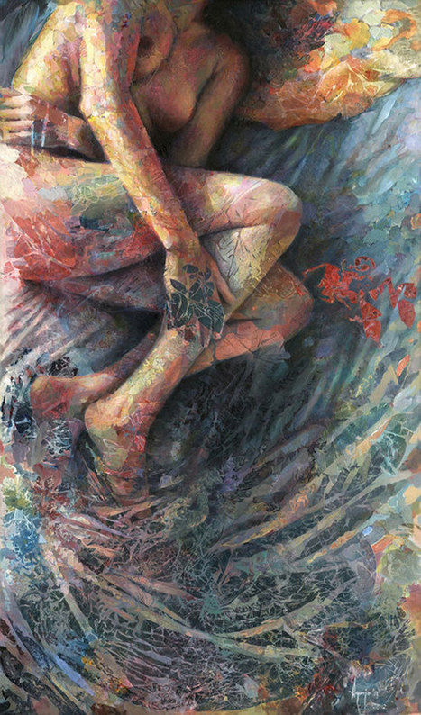 Faith is Torment | Art and Design Blog: Paintings by David Agenjo | mixed media art | Scoop.it