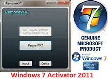 RemoveWAT 2.2.7 Windows 7 activation working | Offline Software Installers Free Download | Scoop.it