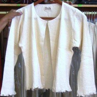 Leichte offene weiße Bolero Jacke, ökologische Baumwolle | Produkte aus Peru | Scoop.it