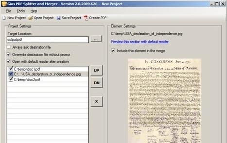 Gios PDF Splitter and Merger, para unir o dividir archivos PDF con facilidad | Las TIC y la Educación | Scoop.it