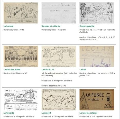 Les journaux de tranchées de la Première Guerre mondiale - Gallica | Nos Racines | Scoop.it