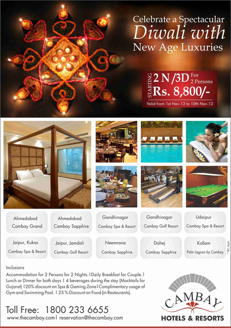 Cambay offer Diwali Holiday Packages 2013. | Hotels & Resorts | Scoop.it