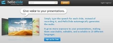 Dale voz a tus presentaciones con Hello Slide | Edu-Recursos 2.0 | Scoop.it