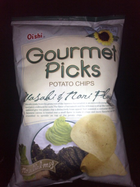 Wasabi Flavor Potato Chips by Oishi | All About Food | Scoop.it