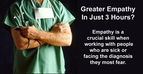 How attentive, empathetic, and caring was your physician? Greater Empathy - In Just 3 Hours?   Empathy in Health Care   Scoop.it