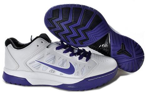 Nike Dream Season IV(4) White/Purple Kobe Bryant Basketball Shoes | popular list | Scoop.it