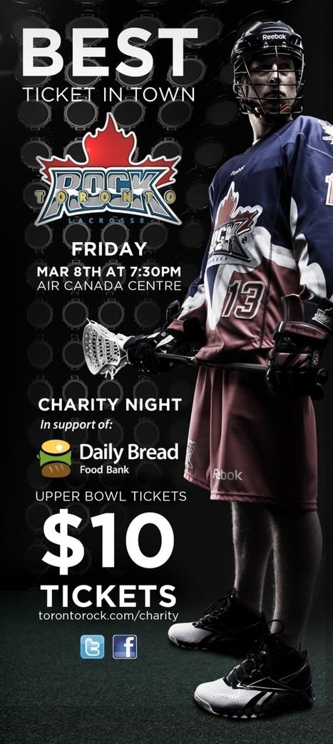 Toronto Rock - Charity Night | March Break in Milton, ON | Scoop.it