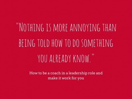 What you should know about leadership coaching | New Leadership | Scoop.it