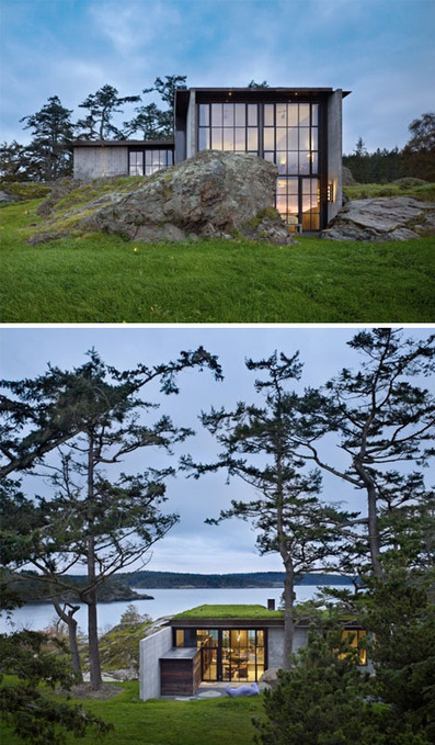 Stealthy Stepping-Stone Home Hovers over Rocky Terrain | sustainable architecture | Scoop.it
