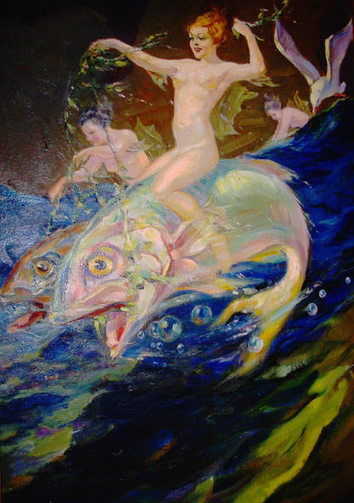 A Nude Sea Sprite On A Flying Fish   Peixologia   Scoop.it