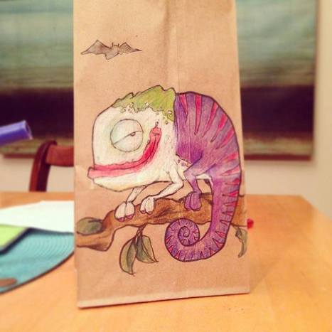 This Guy Has Been Drawing On His Son's Lunch Bags Every Day For 2 Years. | Evrystry (because EVERY STORY matters) | Scoop.it