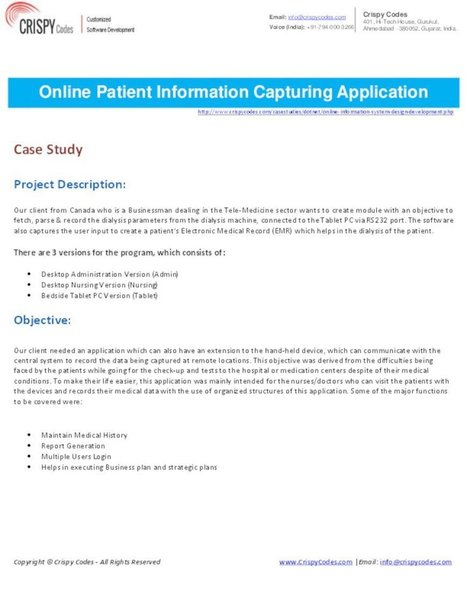 Online Patient Information Capturing Application   CrispyCodes   Scoop.it