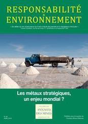 Annales des Mines - Responsabilité et environnement 2016/2 - Les métaux stratégiques, un enjeu mondial ? | Parution de revues | Scoop.it