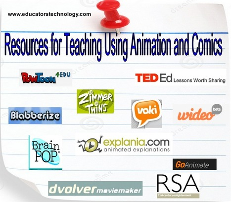 40+ Resources for Teaching Using Animation and Comics | ed tech | Scoop.it