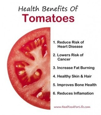 6 Health Benefits of Tomatoes - Care2.com | Your Food Your Health | Scoop.it