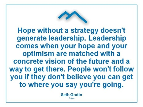 Hope without a strategy doesn't generate leadership! | The Key To Successful Leadership | Scoop.it