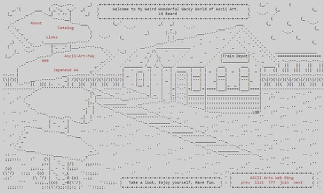 The Weird Wonderful Wacky World of Ascii-Art | ASCII Art | Scoop.it
