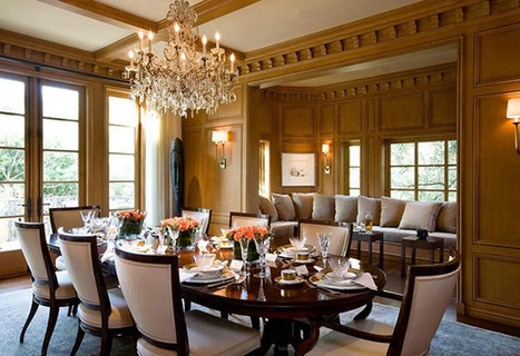 Beautiful Dining Room with Elegant Chandelier and Formal yet Homey Furniture Pieces | Simple Decorating Ideas For Home | Scoop.it