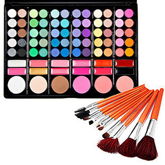 Silky 78 Colors Makeup Eye Shadow Palette and Blushers ( Free Brushes) - makeupsuperdeal.com | Makeup Sets | Scoop.it