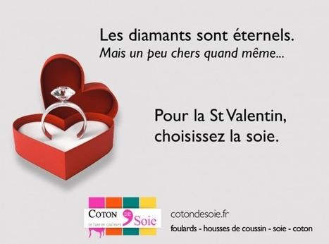 Publicités Internet de Coton de Soie à l'occasion de la St Valentin - Actualités - Coton De Soie | article sur les tissus utilisés dans la mode | Scoop.it