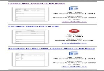 Some Excellent Lesson Plan Templates for Teachers ~ Educational Technology and Mobile Learning | TinkerSpaces | Scoop.it