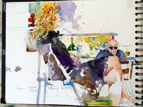 WATERCOLOR PAINTINGS SKETCH BOOK BY CHARLES REID - Art People Gallery | ESL- EFL and Art | Scoop.it