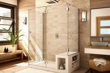 Des douches avec un banc int gr for Photo douche italienne avec banc