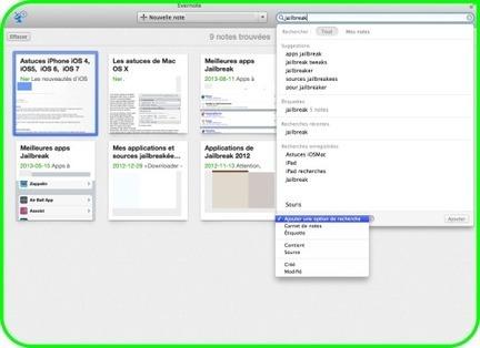 Les meilleures astuces d'Evernote pour Mac, iPhone et iPad | I-education | Scoop.it