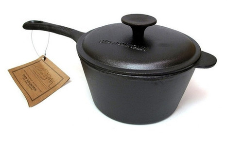 Old Mountain Cast Iron Natural Cookware 2 qt Sauce Pan w Lid | homeschooling | Scoop.it