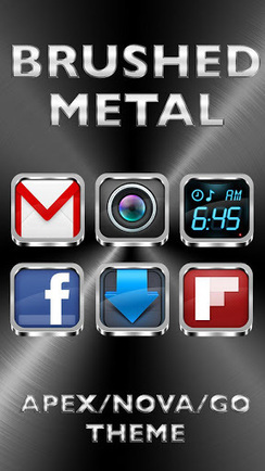 BRUSHED METAL APEX-GO THEME v2.0 | ApkLife-Android Apps Games Themes | Android Applications And Games | Scoop.it
