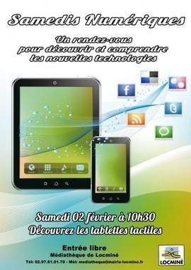 Samedis numériques : Tablettes Tactiles | Médiathèque de Locminé [56] | tablettes_en_mediatheque | Scoop.it