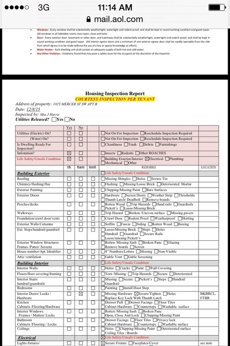 Page 2 of City of Wilson Housing code inspection done 12/8/15 by M. Harris | LANDLORD & Tenant Abused, Misused and even some murdered In unusual ways with the help of their connections | Scoop.it