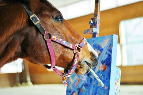 Horses Painting — Meet Metro | horses, animals | Scoop.it