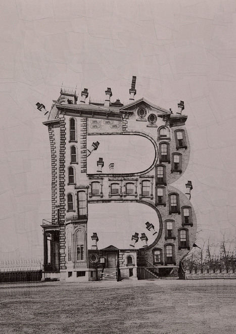 #Buildings Shaped Like #Letters of the #Alphabet Made with #Photographic #Collage by Lola Dupre. #art  | Luby Art | Scoop.it