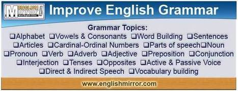Learn English Online free | Grammar | common mistakes | SMS words - English Mirror | Online English Study | Scoop.it