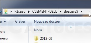 Partager un dossier sans le rendre visible - Windows 7 | Time to Learn | Scoop.it
