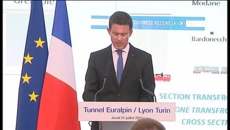 En Savoie, Manuel Valls sur le chantier du Lyon-Turin - France 3 Alpes | Veille presse Lyon-Turin ferroviaire | Scoop.it
