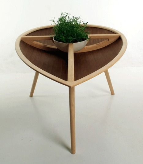 Indoor Garden: Plantable Table Inspired By Seeds | Végétalisation des espaces urbains | Scoop.it