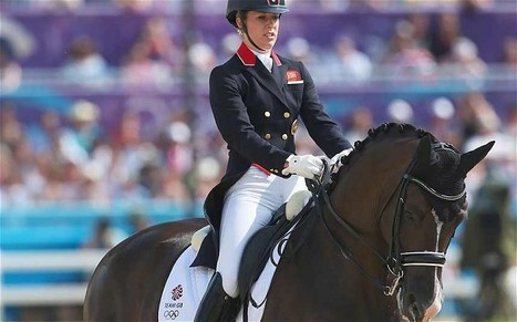 A show of patriotism as Charlotte Dujardin performs The Great Escape at Greenwich Park | Equestrian Olympics 2012 | Scoop.it