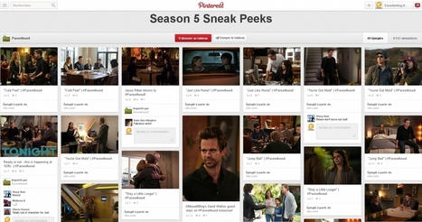 Comment les programmes TV américains utilisent Pinterest | Entrepreneurs du Web | Scoop.it