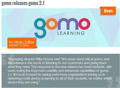 gomo releases gomo 2.1 by News  Editor : Learning Solutions Magazine | elearning stuff | Scoop.it