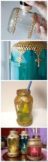 DIY 101+ ways to upcycle glass JARS and BOTTLES   Market Day Ideas   Scoop.it
