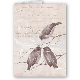 Words of Comfort and Encouragement – Charming Note Card with Vintage Birds and Texts | Antique Images | Designs by ANTIQUE IMAGES | Scoop.it